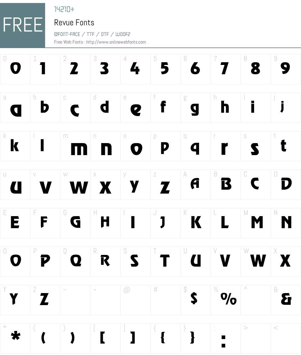 Revue Font Screenshots