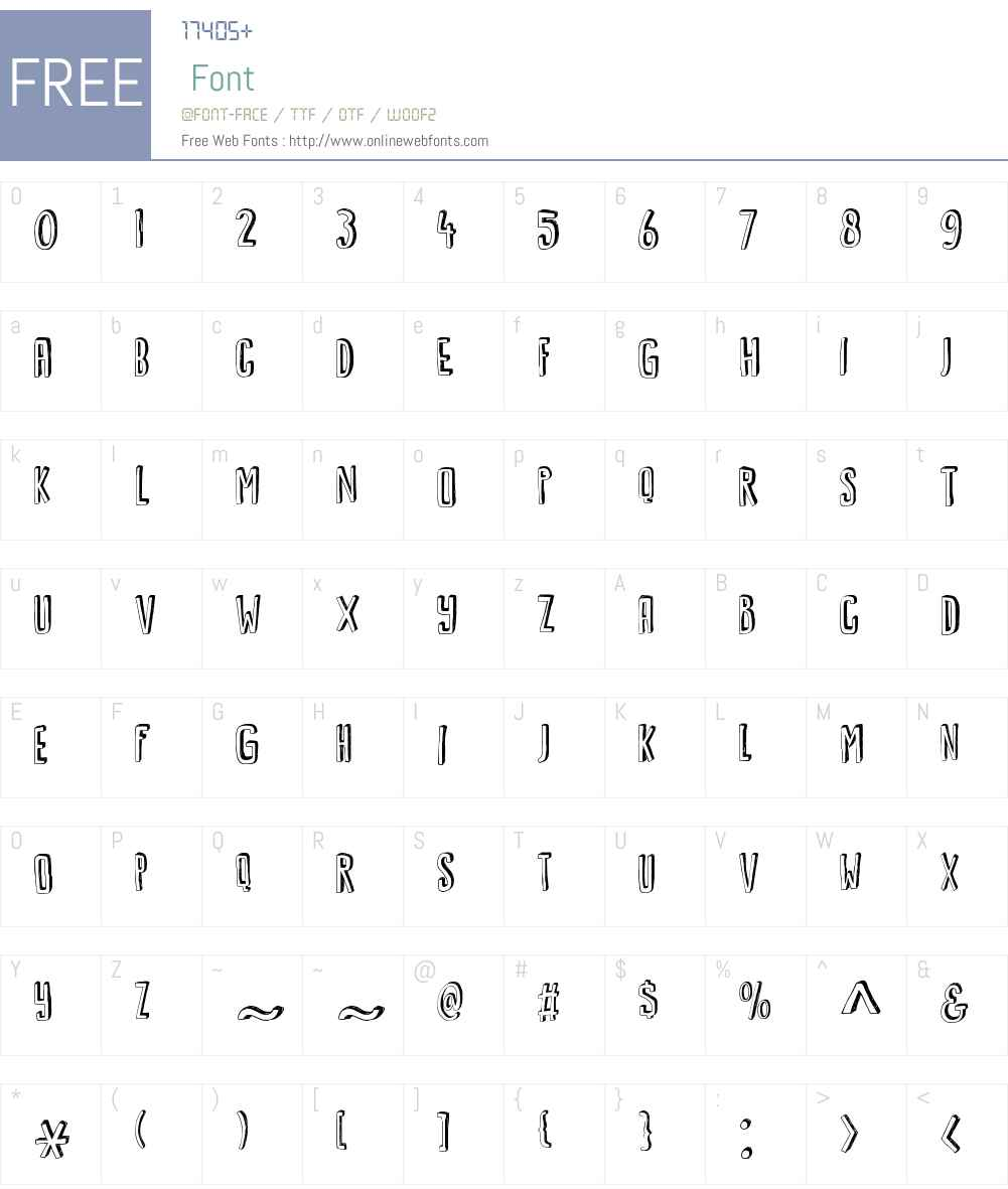 KwarkW00-Regular Font Screenshots