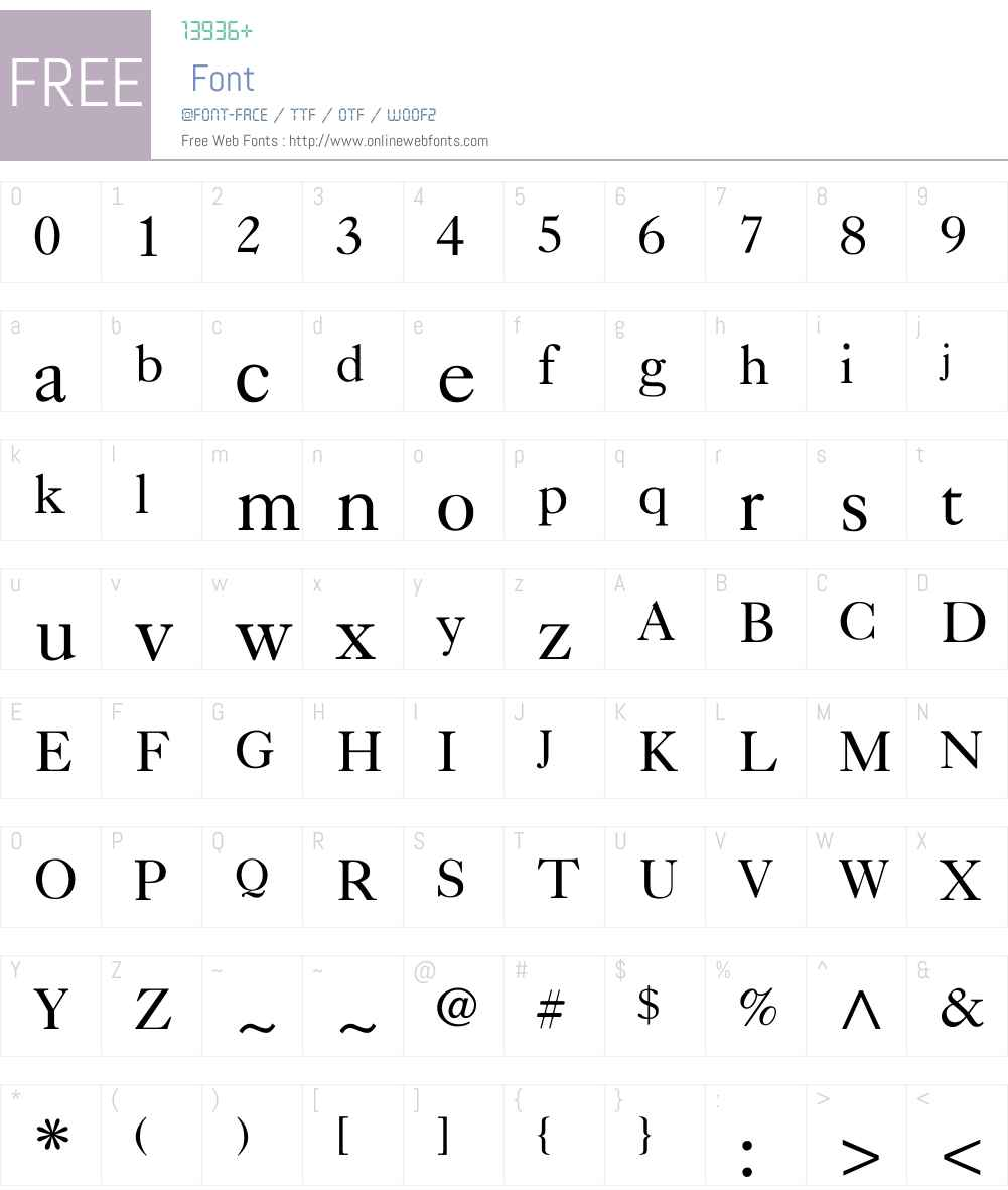 Nelsie-Normal Font Screenshots