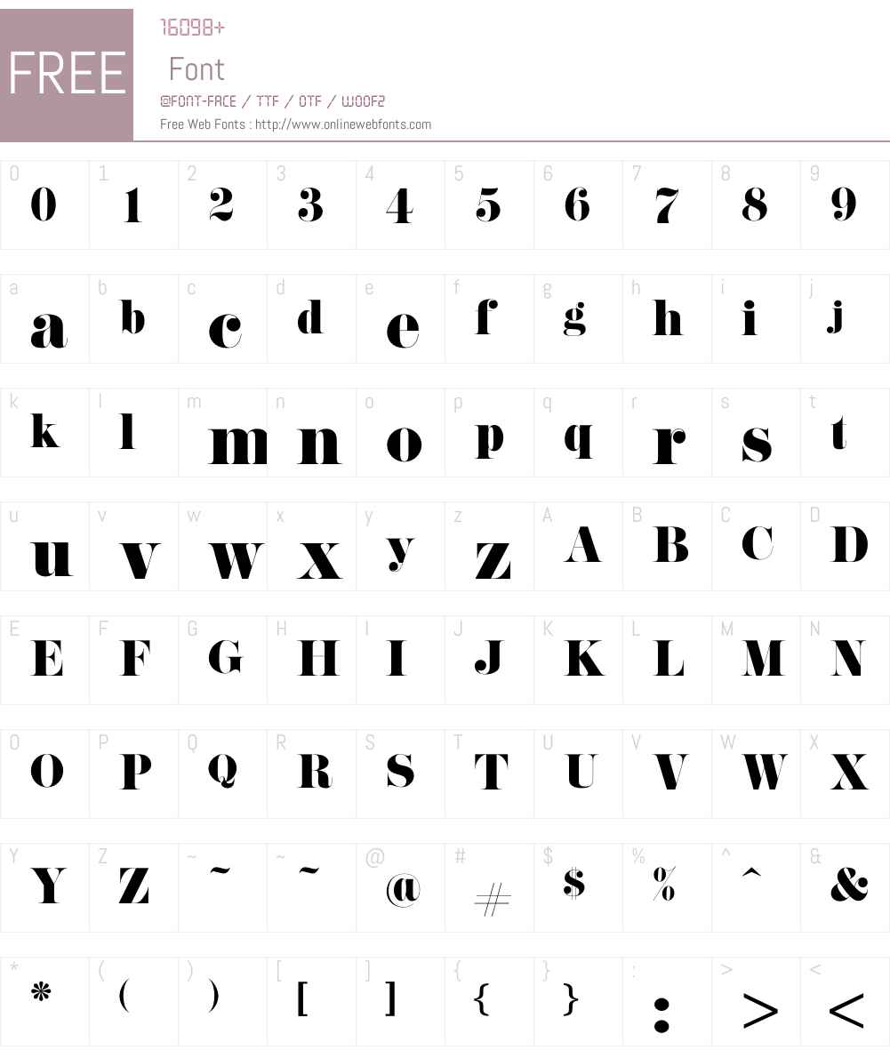 Pistilli Font Screenshots