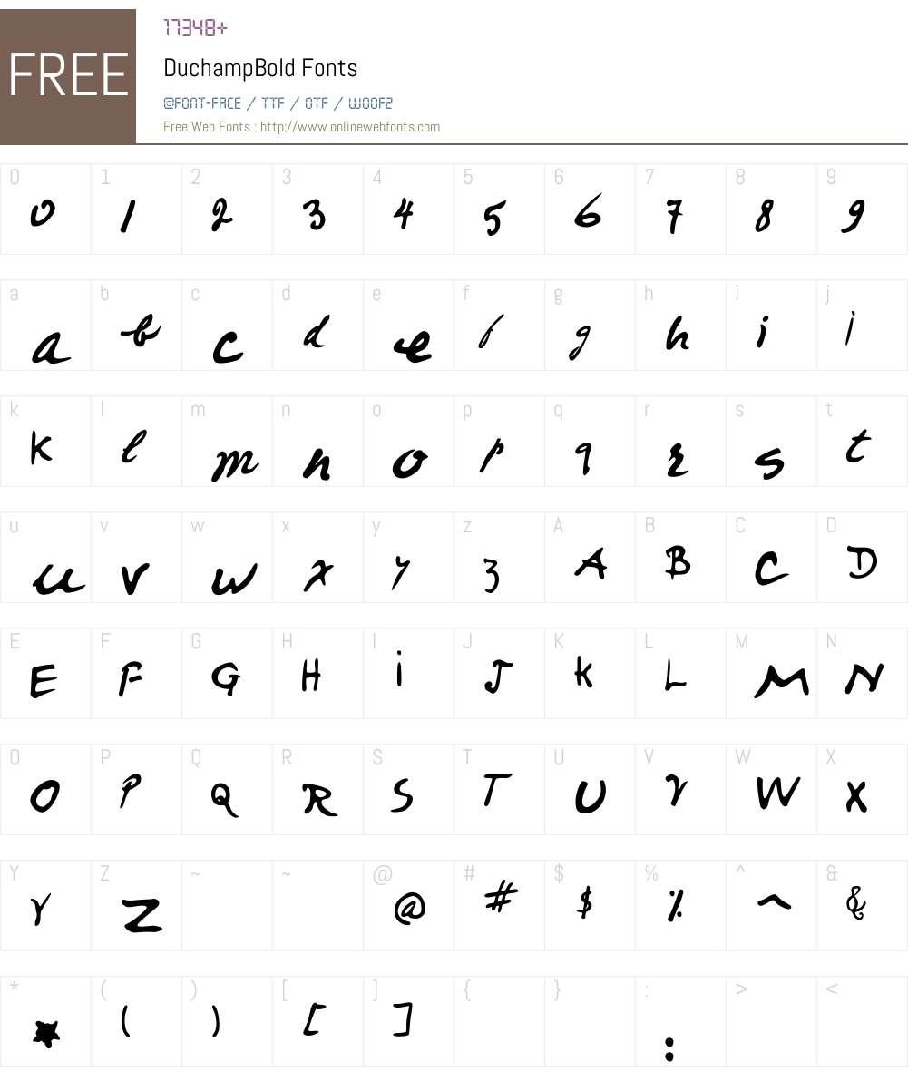 Duchamp Font Screenshots