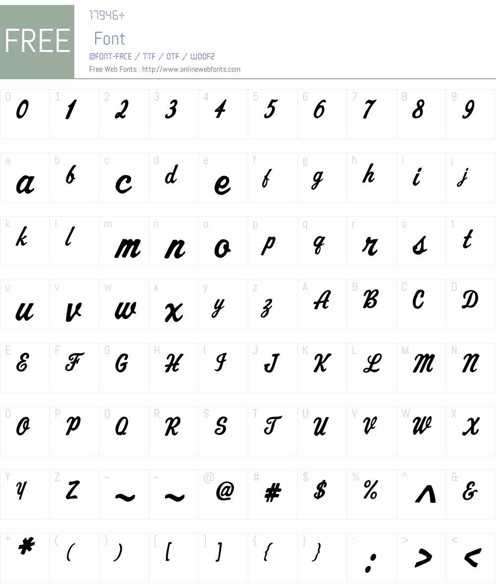 AZCutScriptW00-Regular Font Screenshots