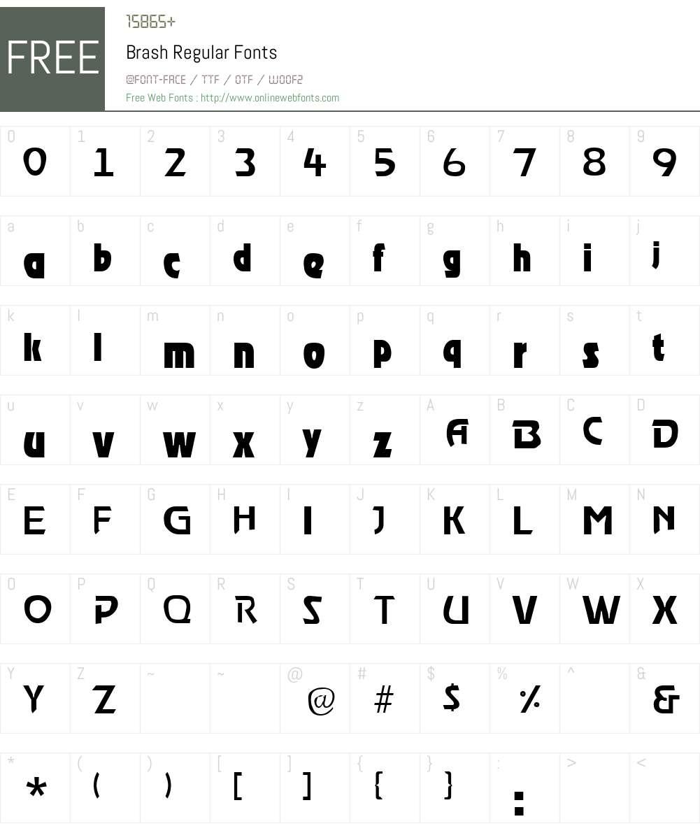 Brash Font Screenshots