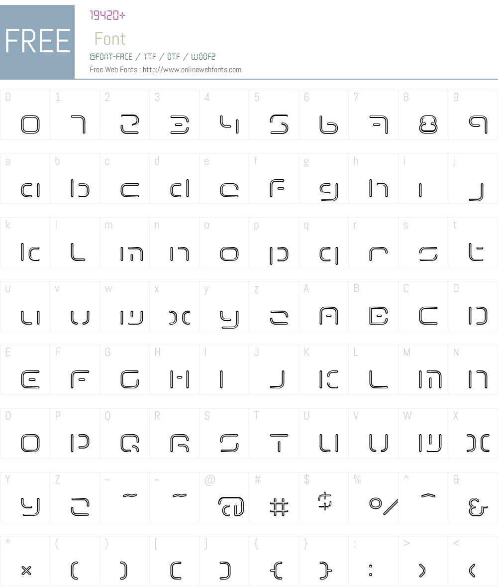 Term Font Screenshots