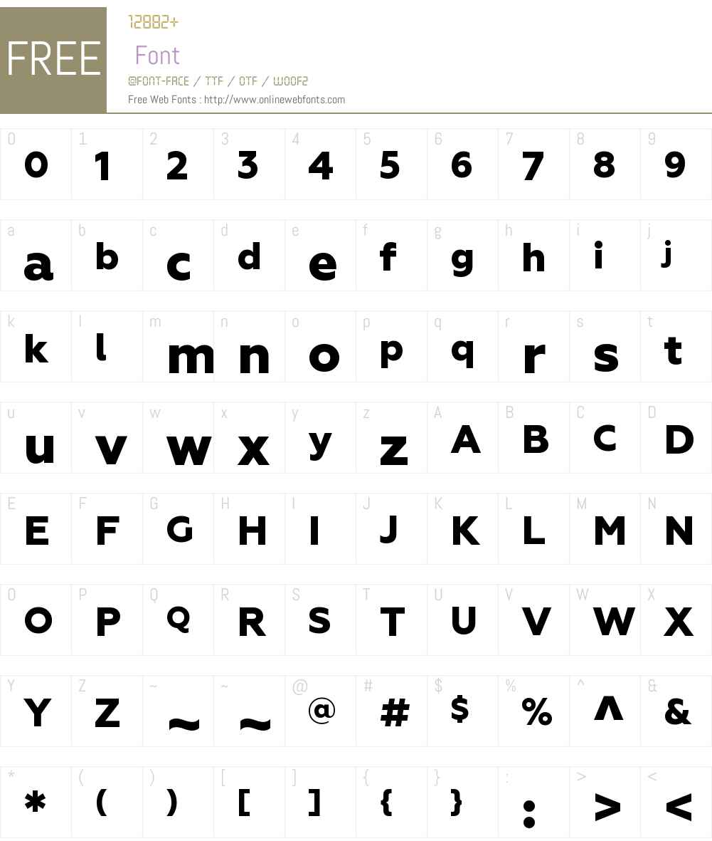 Geometria Font Screenshots