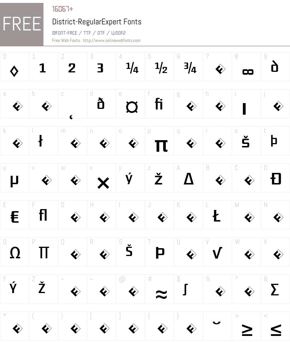 District-RegularExpert Font Screenshots