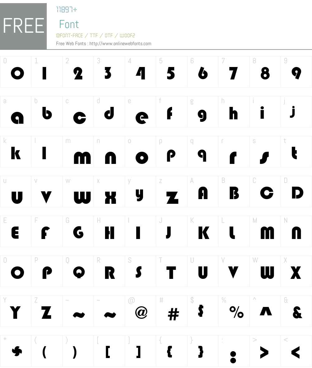 Bixlee Font Screenshots