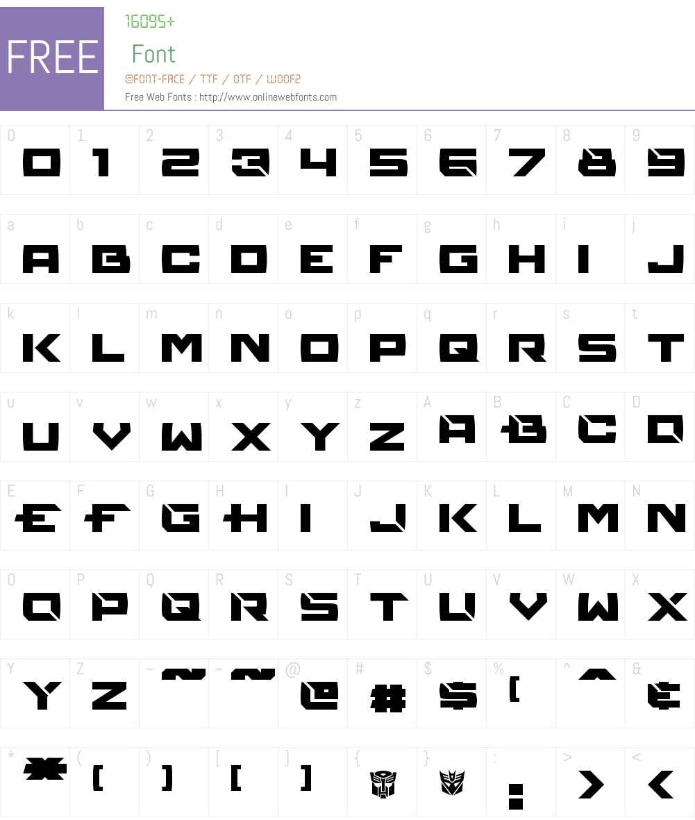 Reconstruct Font Screenshots