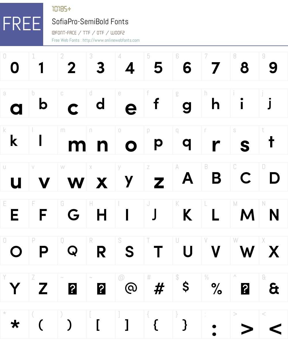 Sofia Pro Semi Bold Font Screenshots