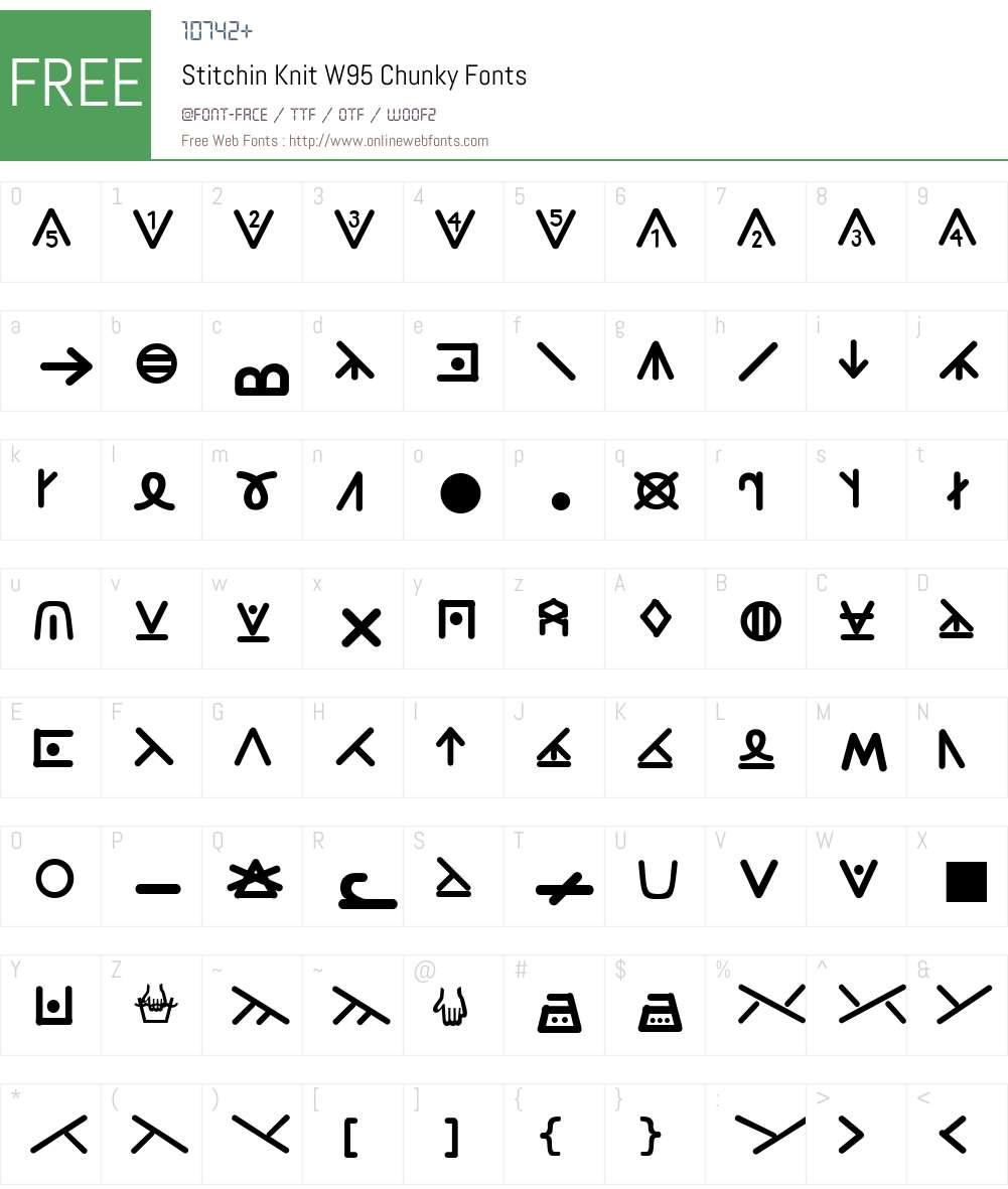 StitchinKnitW95-Chunky Font Screenshots