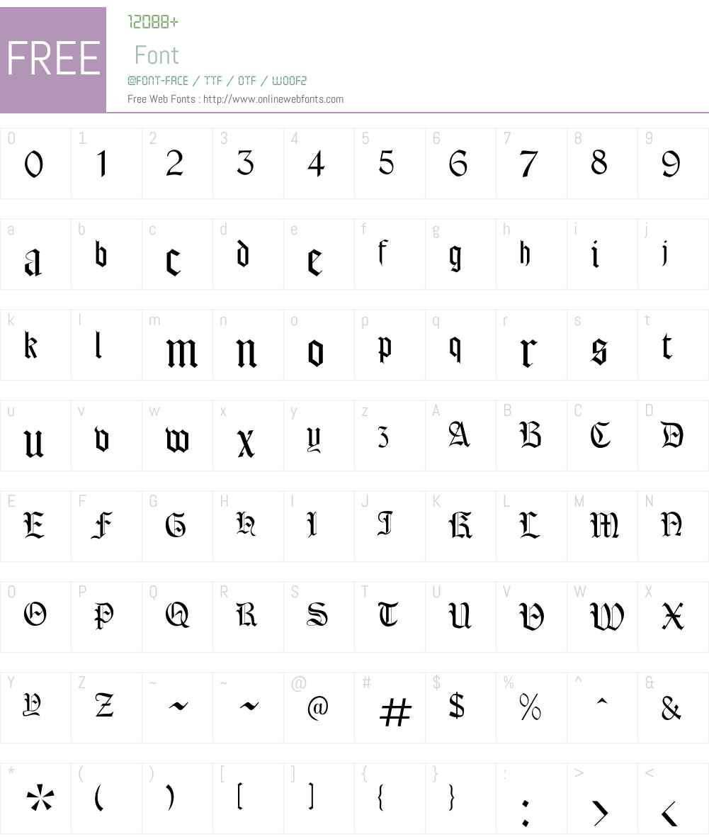 Cordoba Font Screenshots
