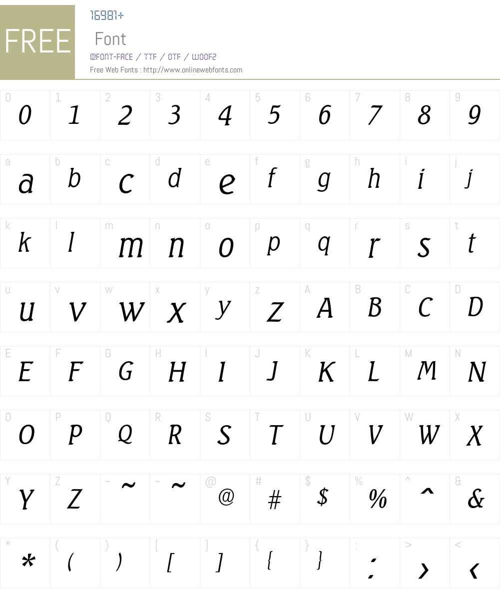 Seagull-LightIta Font Screenshots