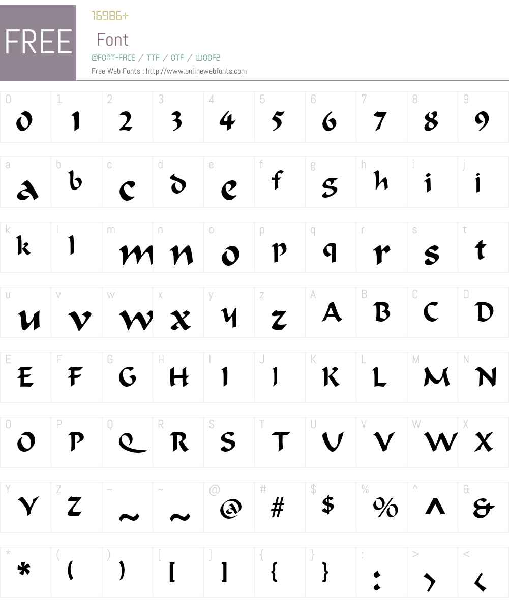 RococoSSK Font Screenshots