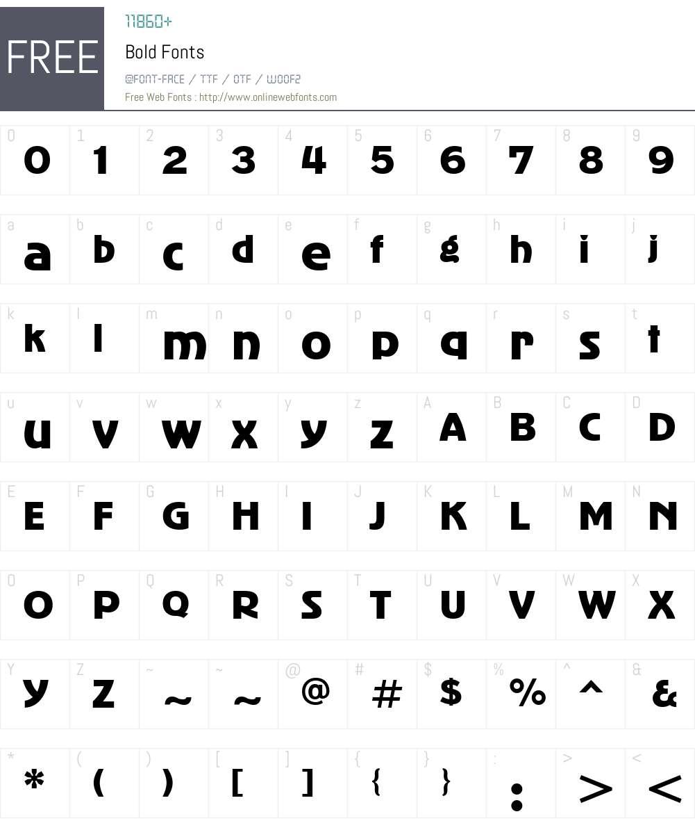 Bold Font Screenshots
