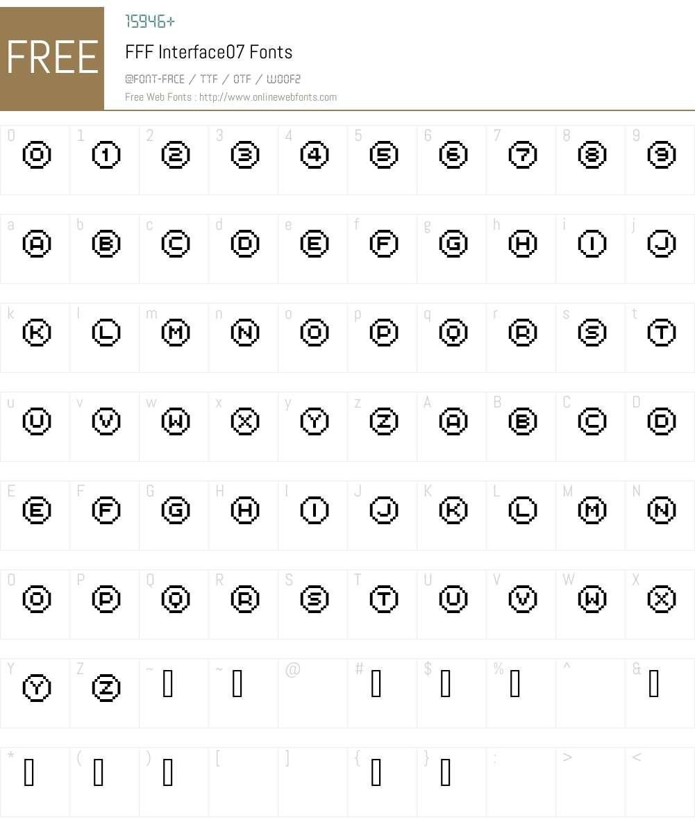 FFF Interface07 Font Screenshots