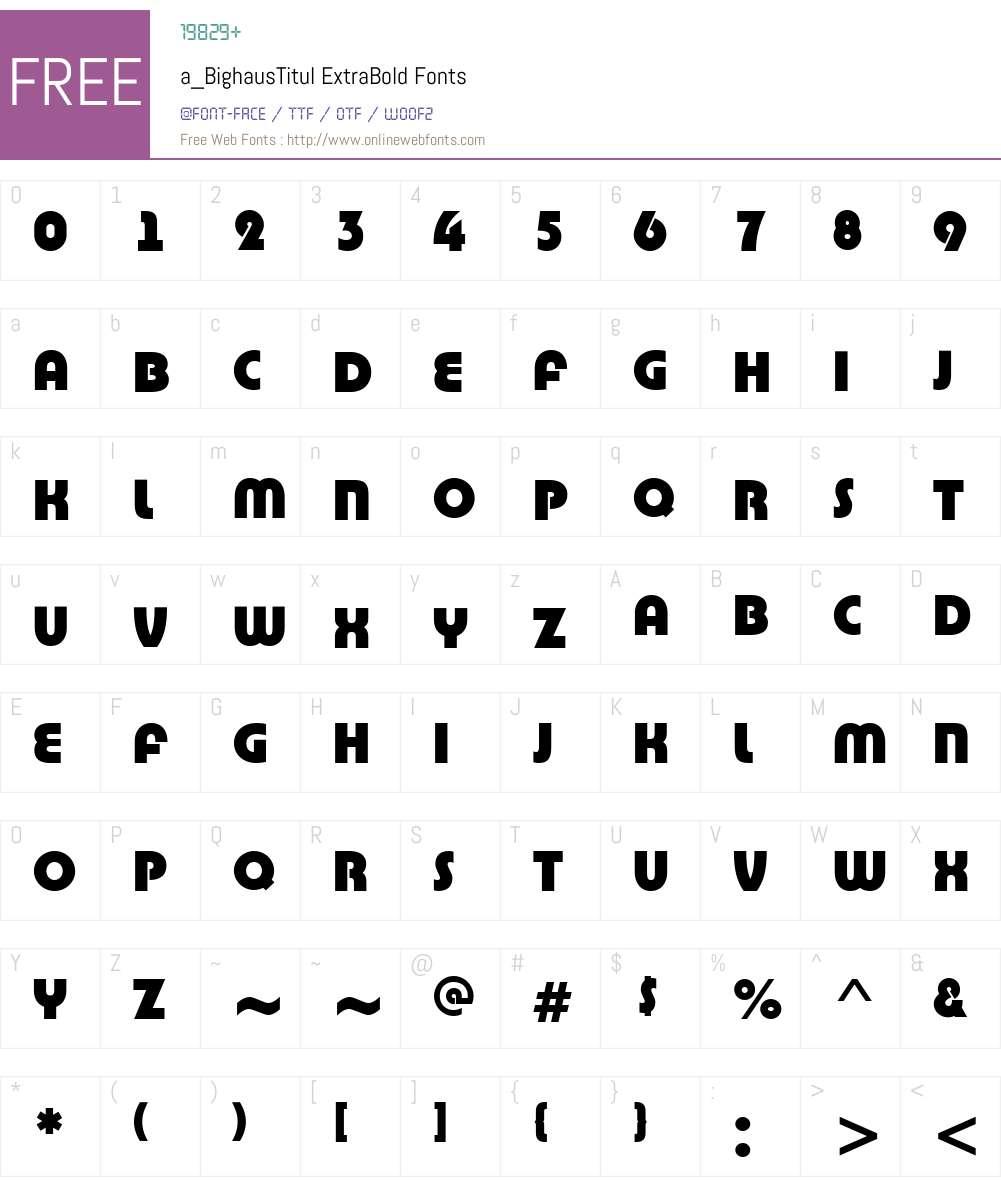 a_BighausTitul Font Screenshots