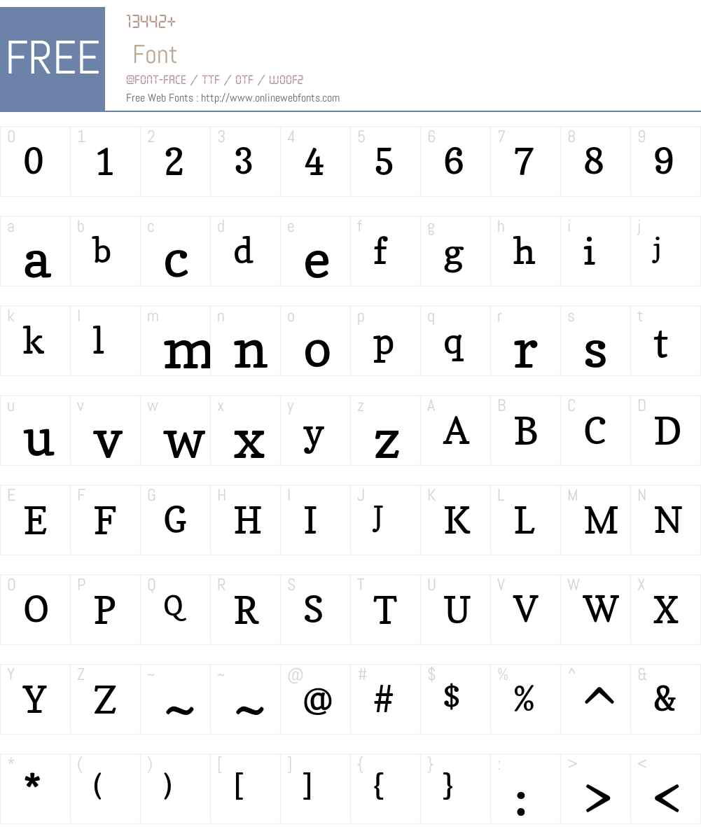 Copse Font Screenshots