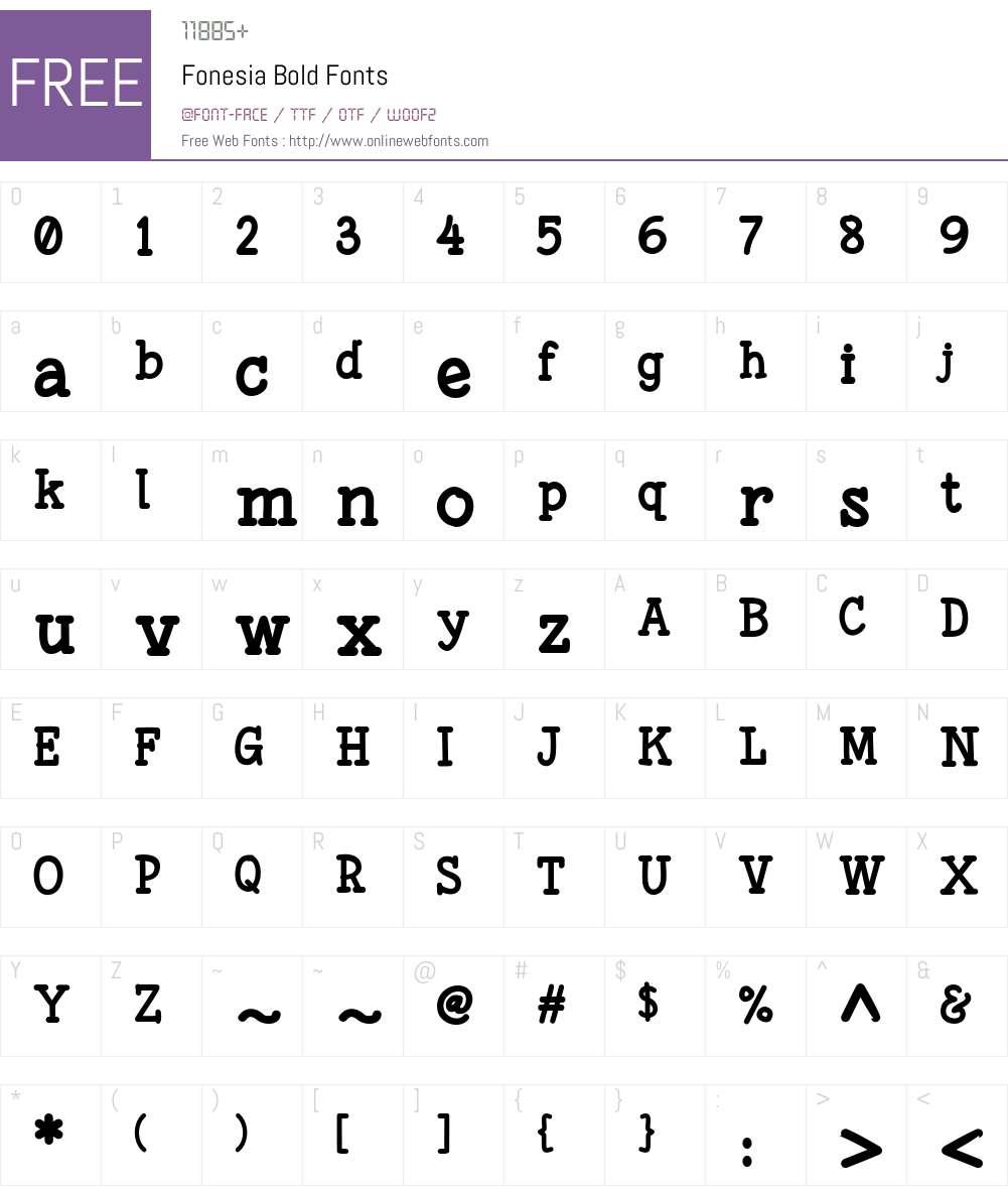 Fonesia Bold Font Screenshots