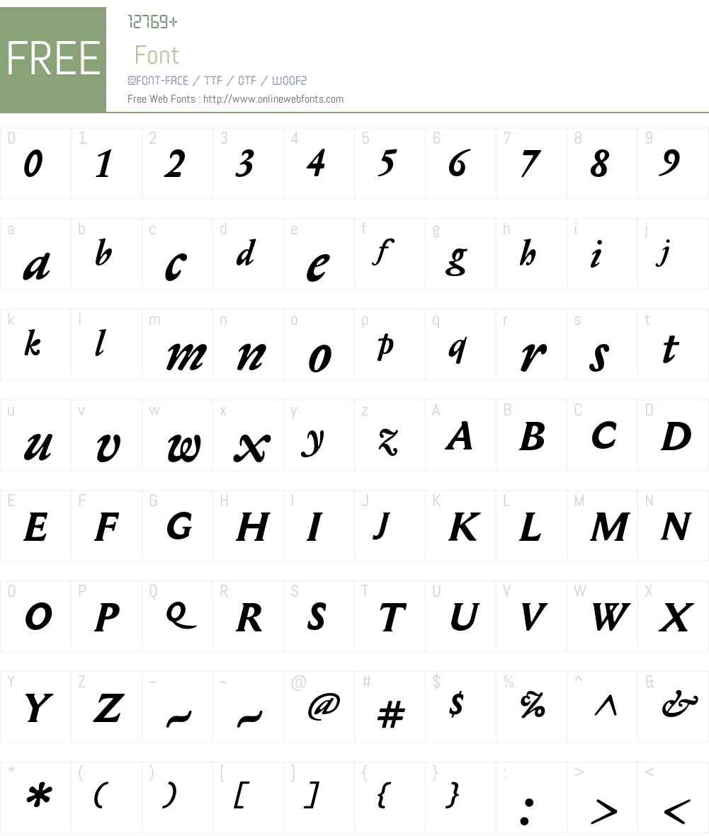 Mediaeval Font Screenshots