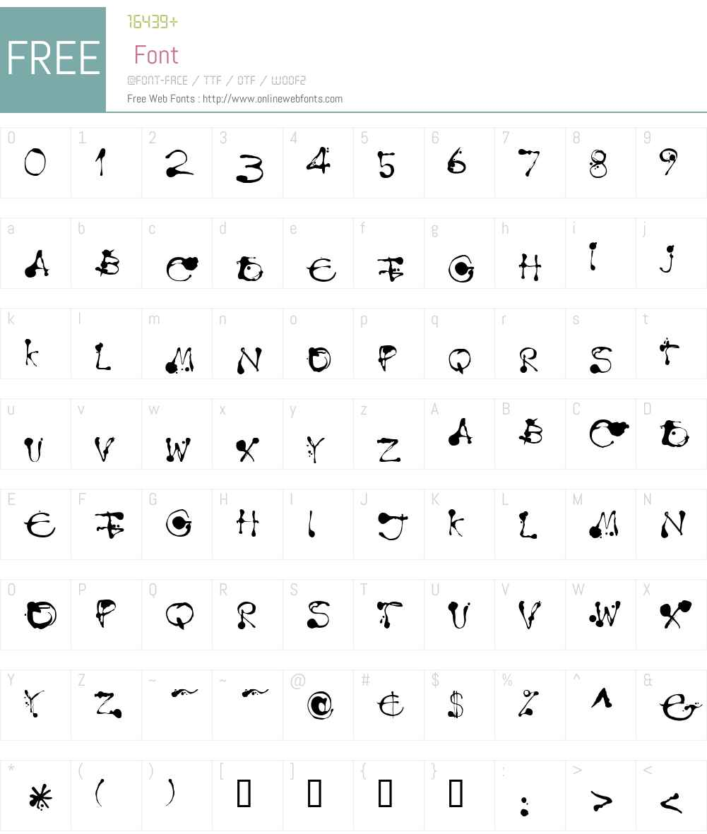 LTDropink Font Screenshots