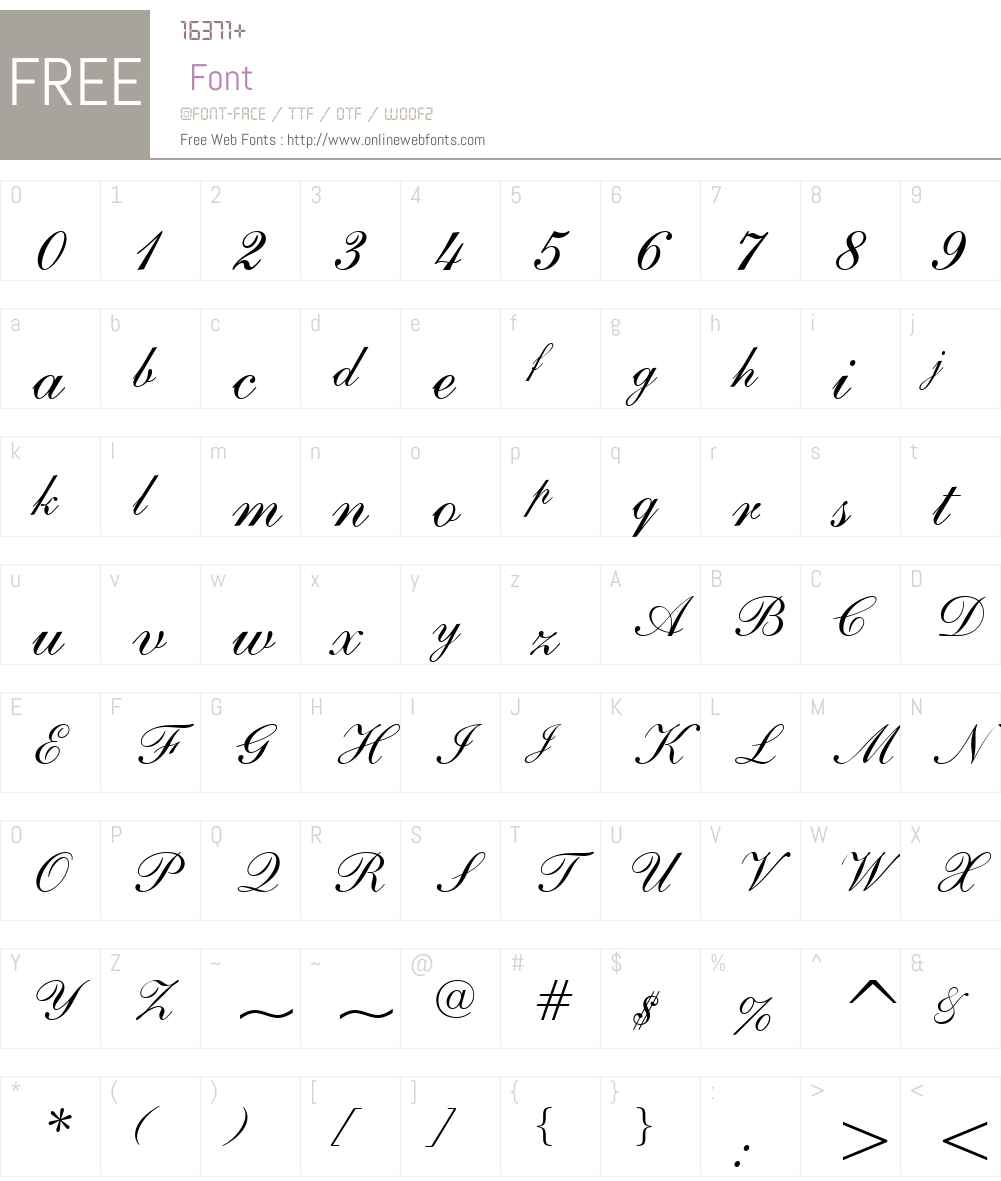 English111W01-Adagio Font Screenshots