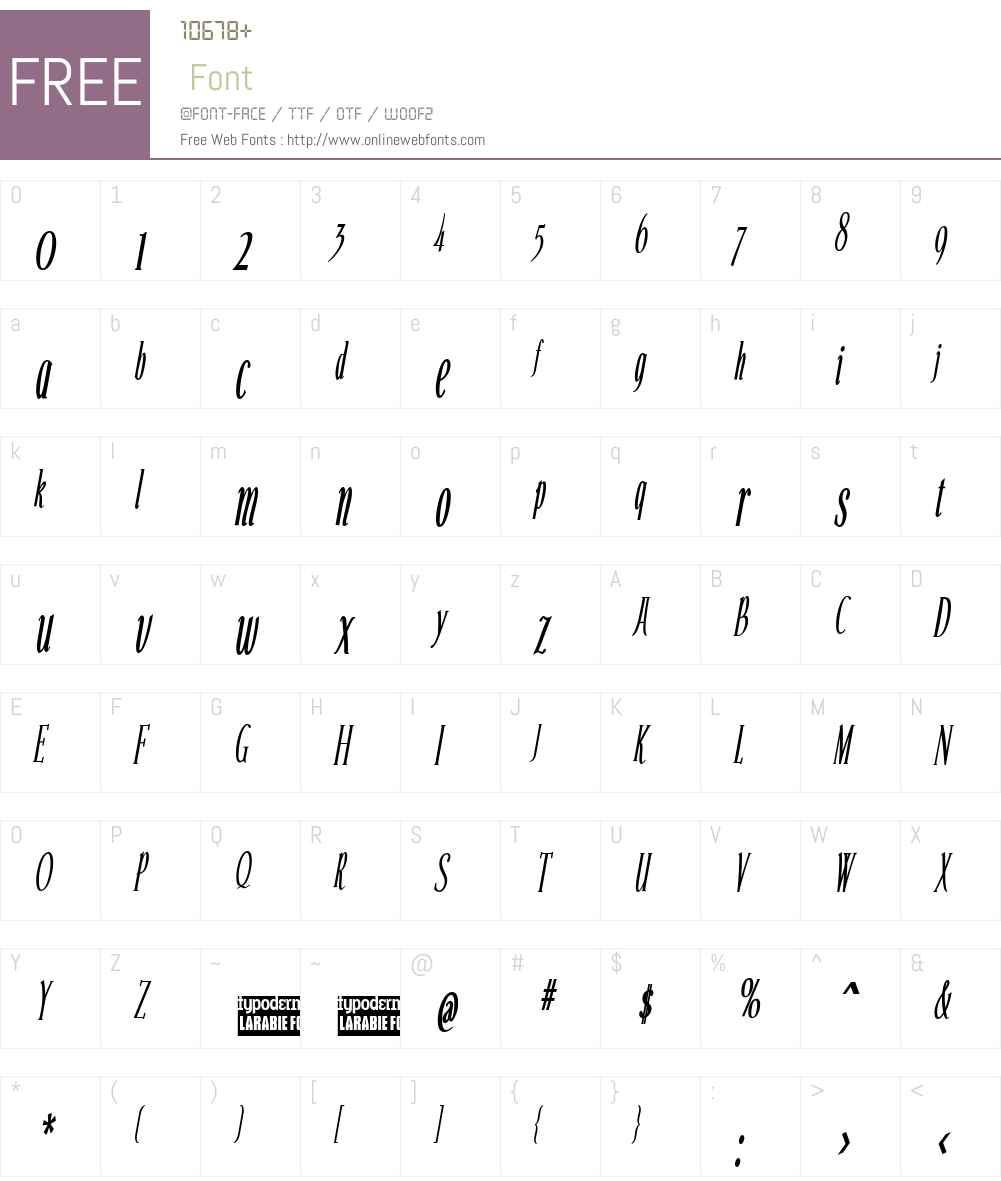 Echelon Condensed Font Screenshots
