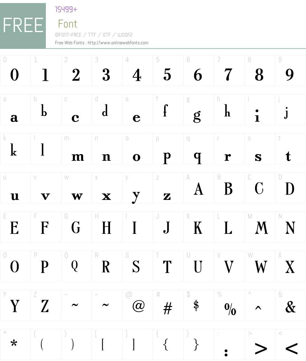 OPTITypoRoman Font Screenshots