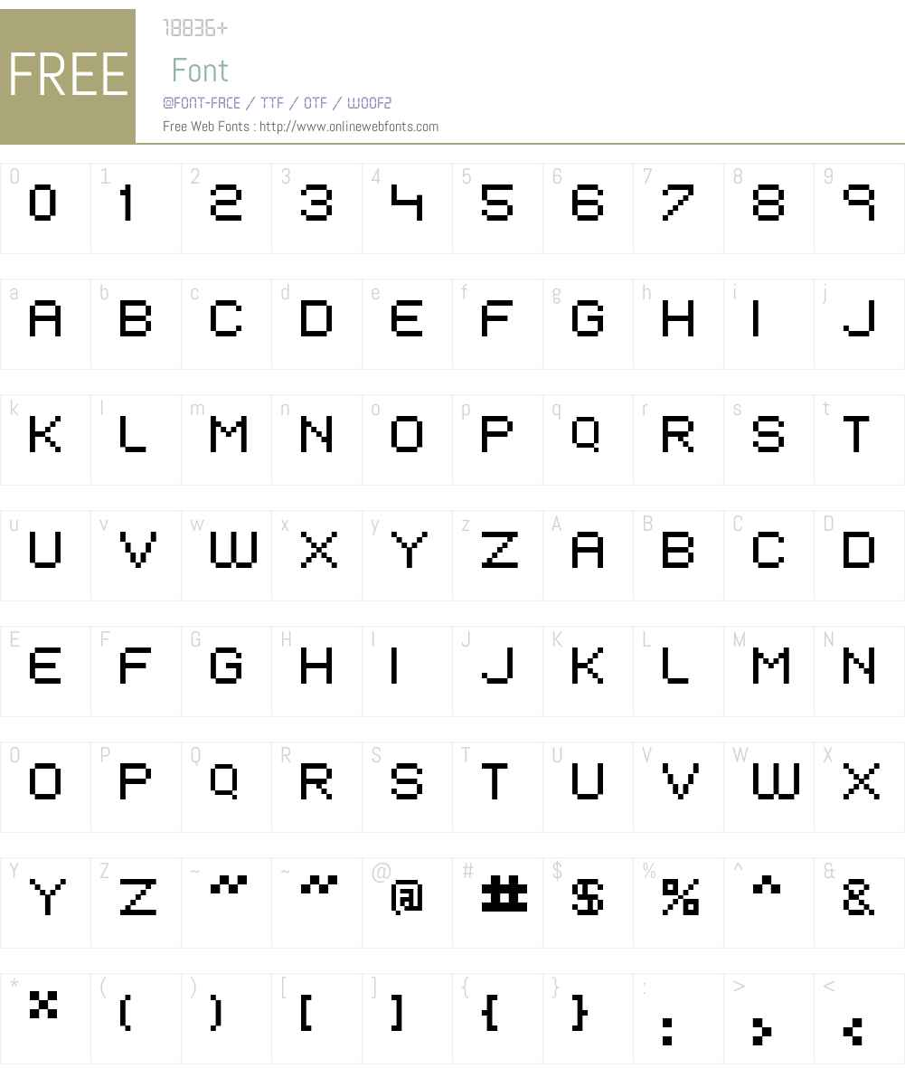 EIVEN MAJOR Font Screenshots
