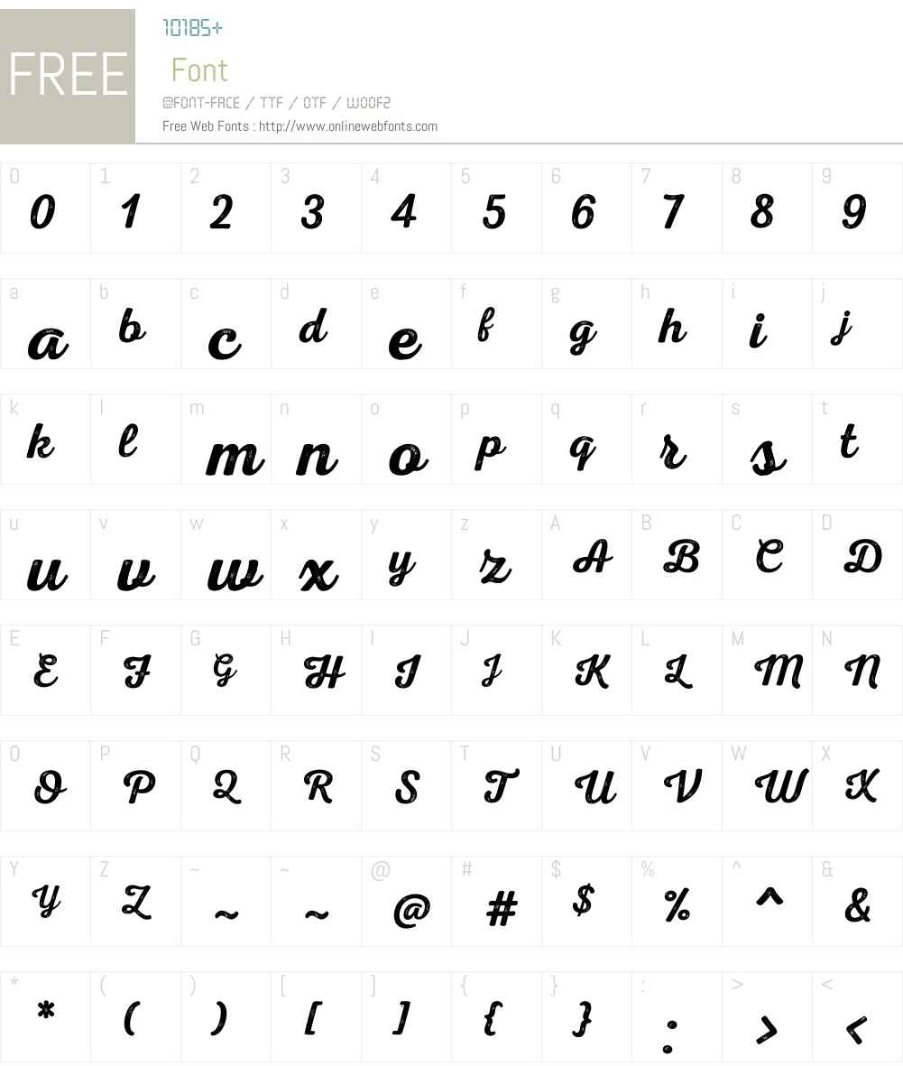 NexaRustScriptSW00-01 Font Screenshots