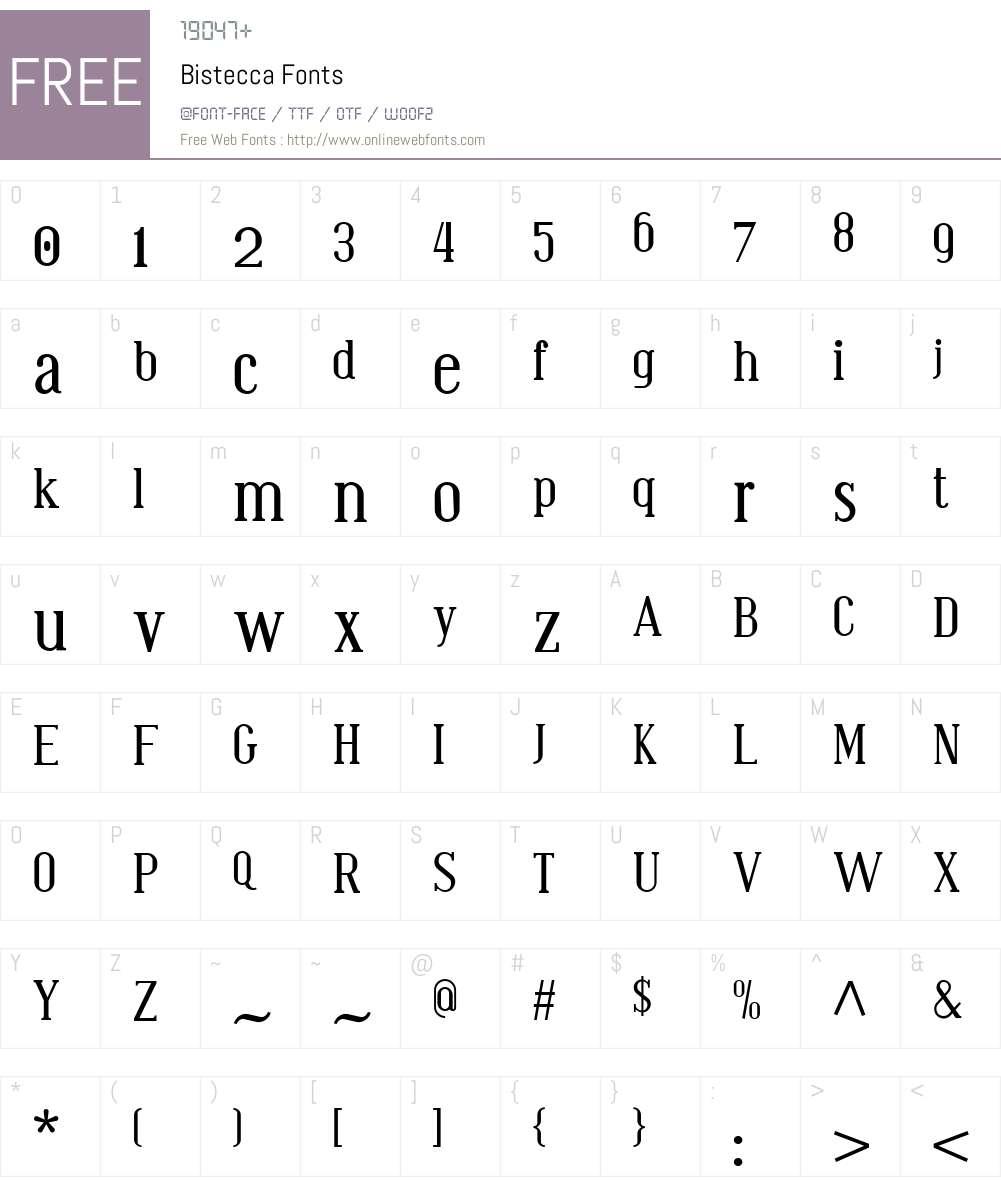 Bistecca Font Screenshots