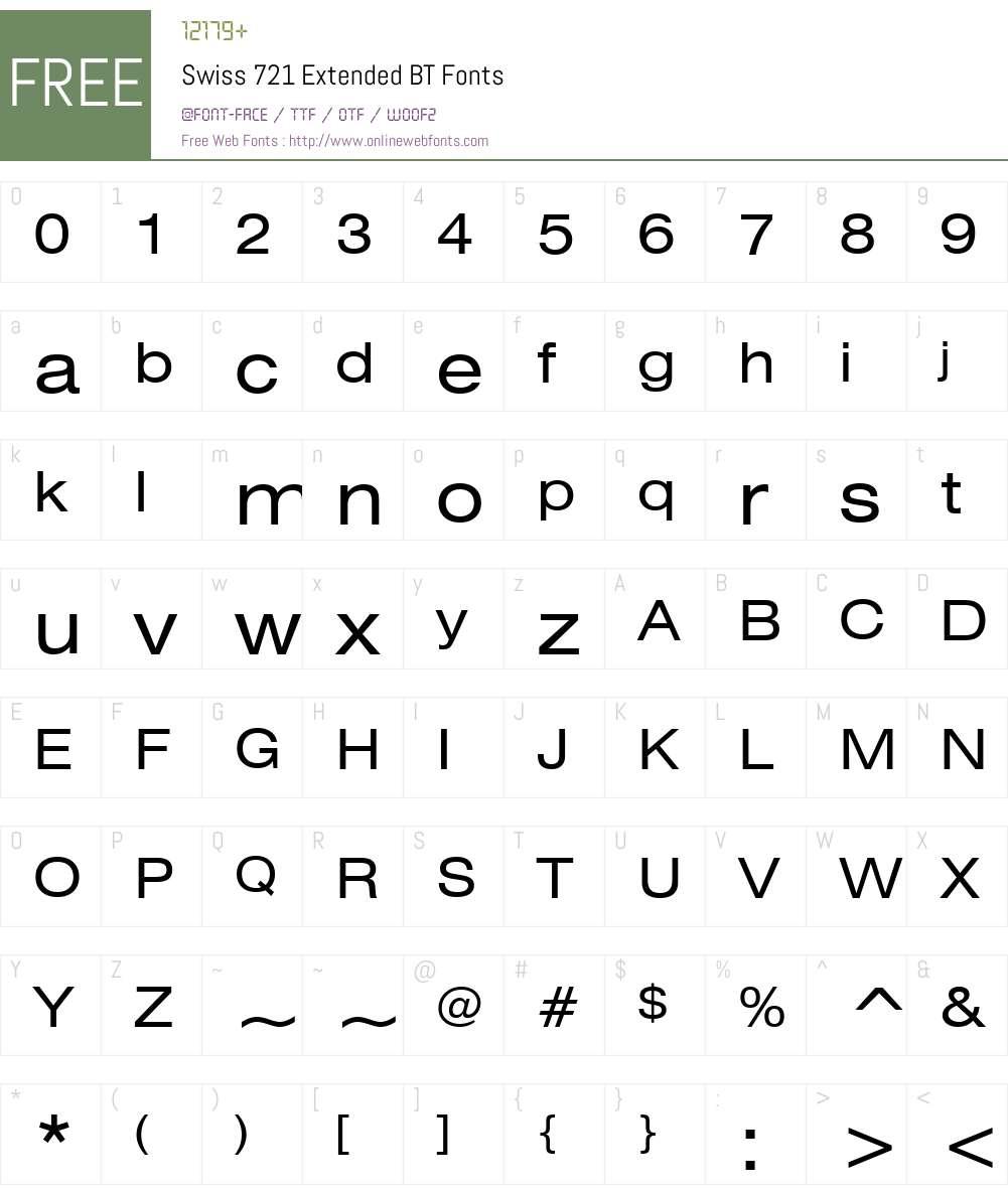 Swis721 Ex BT Font Screenshots