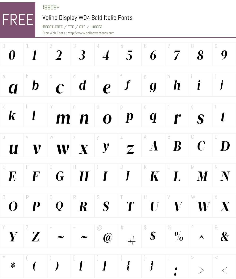 Velino Poster Font Screenshots