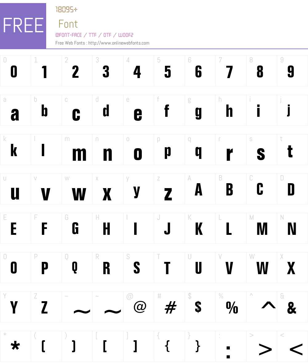 FolioW01-BoldCondensed Font Screenshots