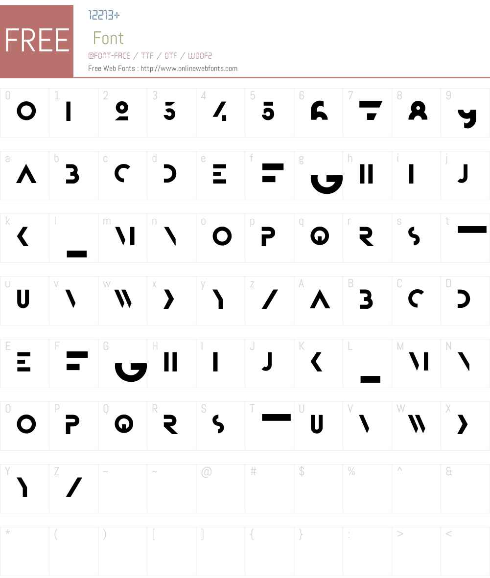 Bifur Foundation Font Screenshots