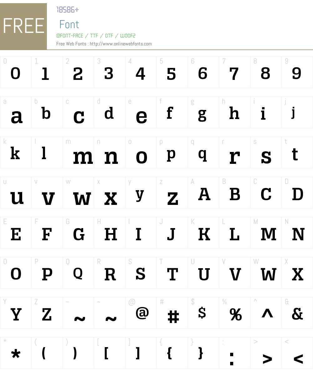 Alianza Slab 600 Font Screenshots