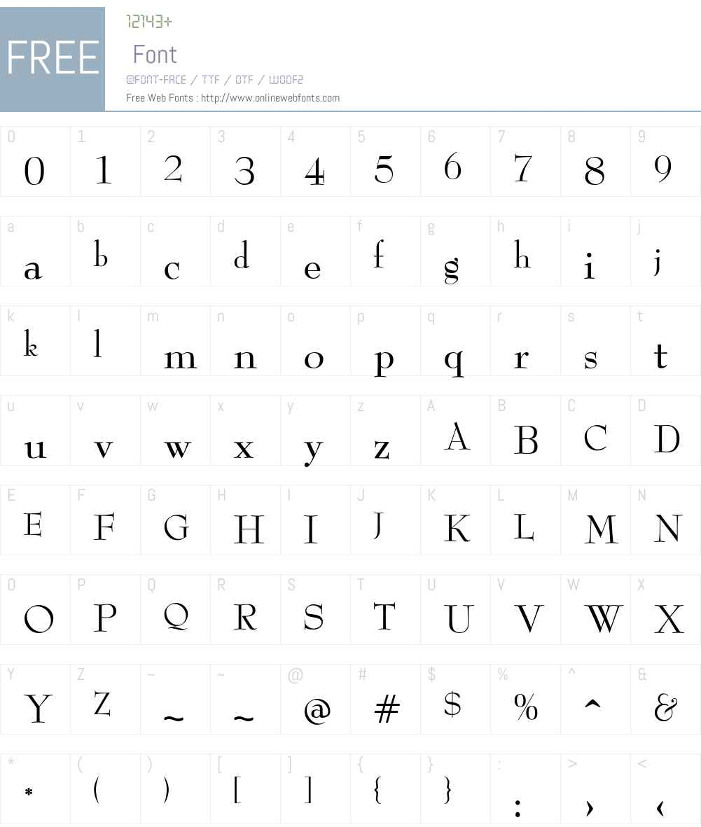 ReedFont Font Screenshots