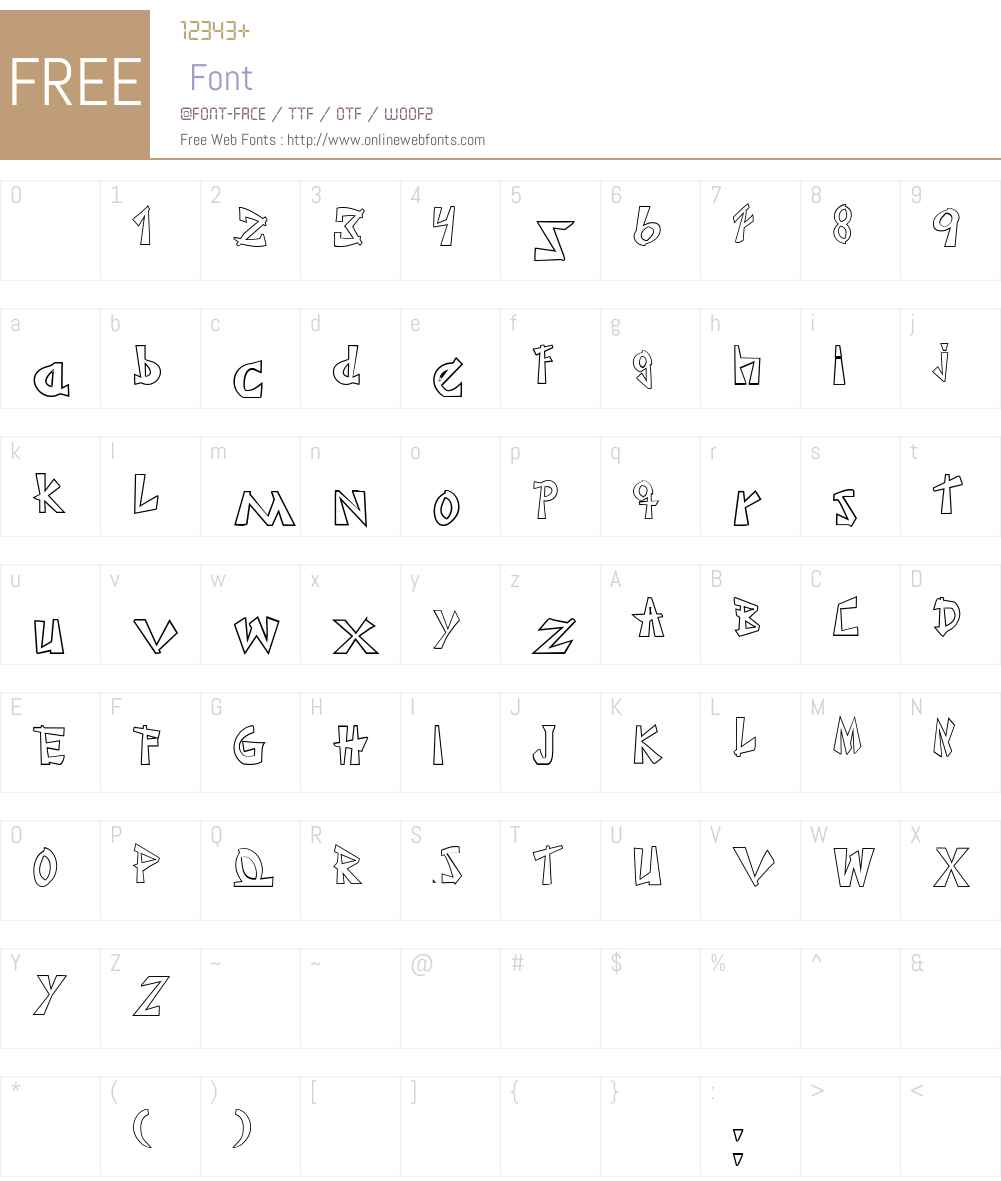 JaponesaOutline Font Screenshots