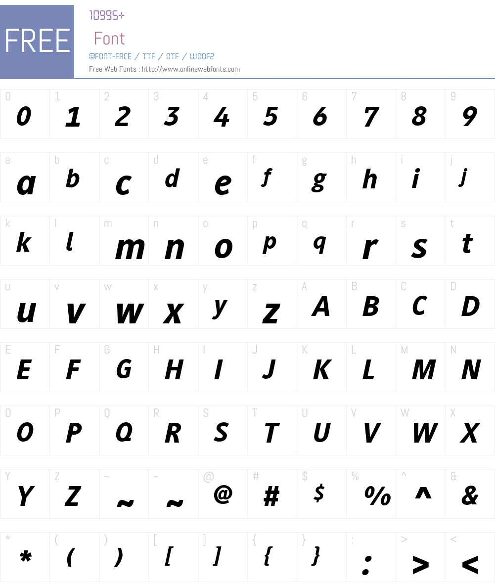 GenerisSansW01-HeavyItalic Font Screenshots