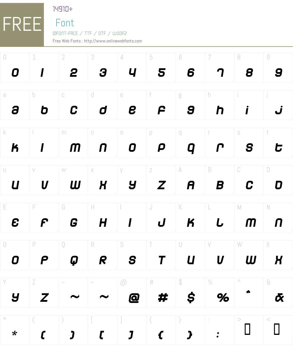 Dunebug 45MPH Font Screenshots
