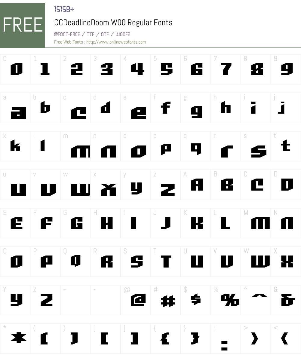 CCDeadlineDoomW00-Regular Font Screenshots
