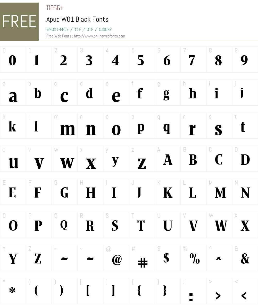 ApudW01-Black Font Screenshots