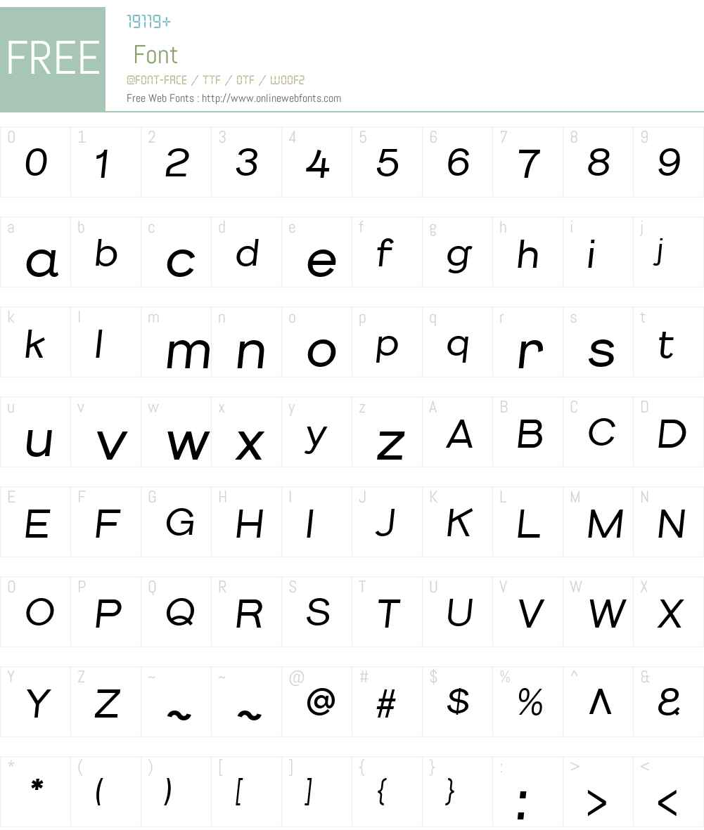 KirunaW00-MediumOblique Font Screenshots