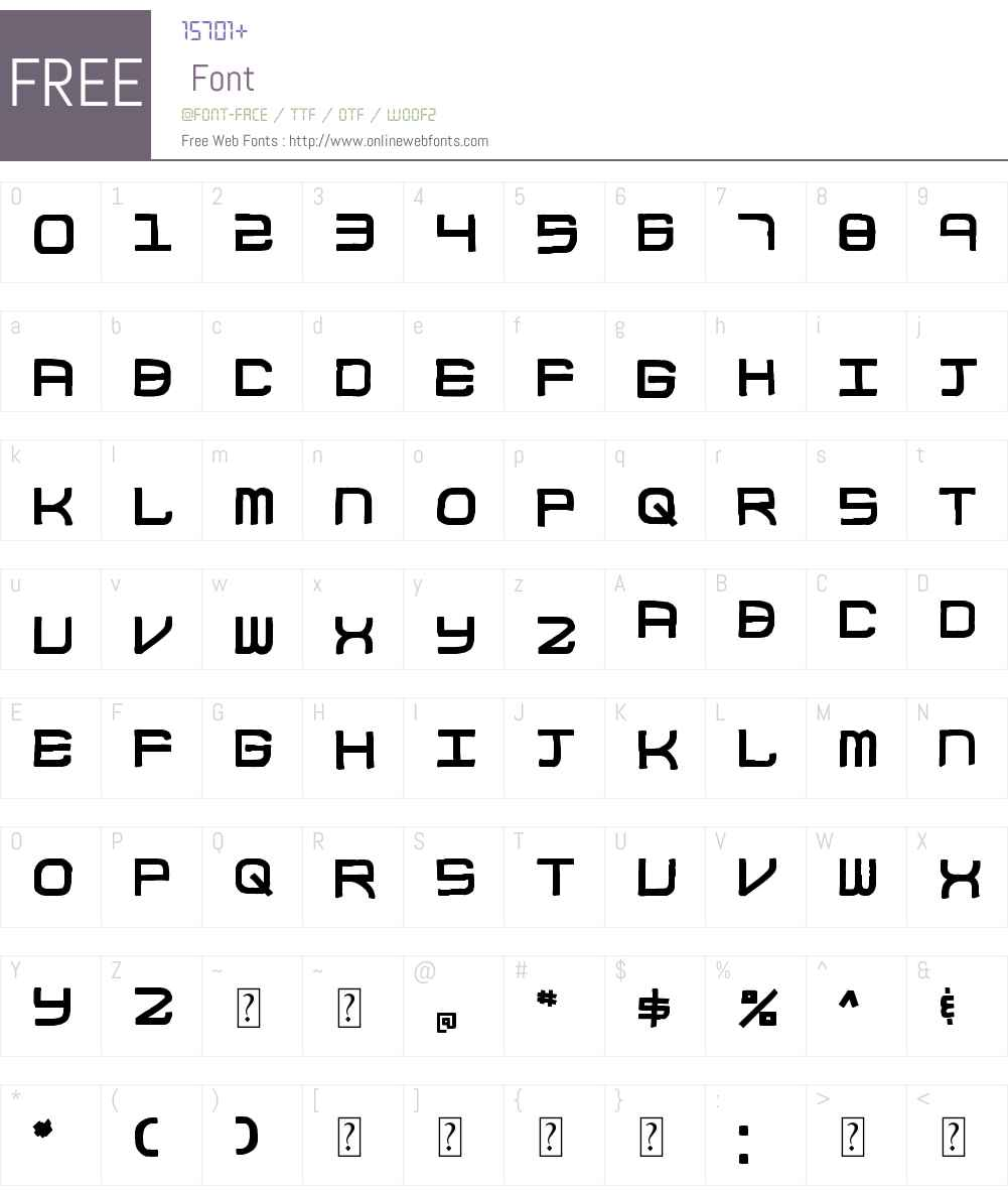 Block Code Font Screenshots