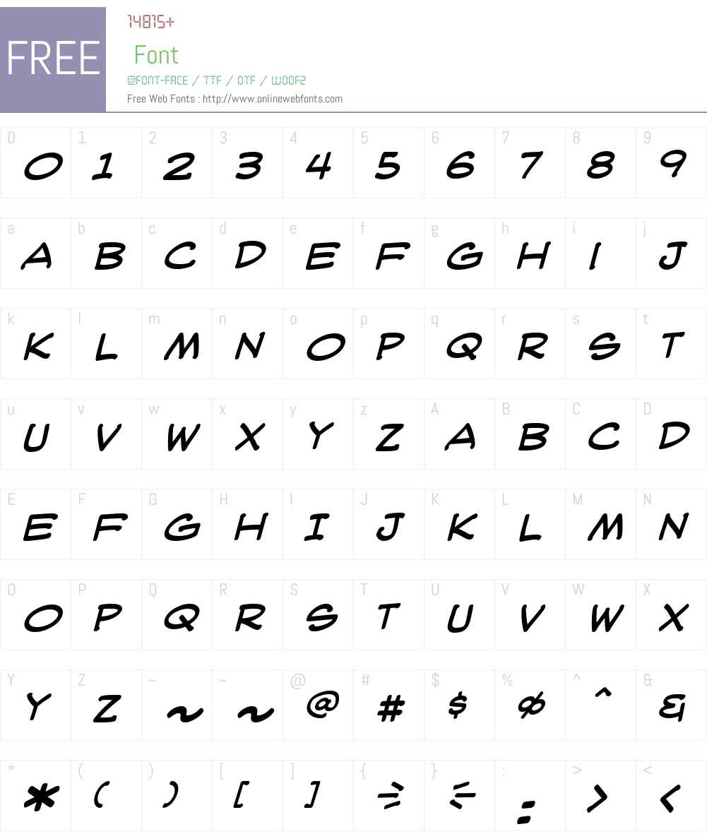 WebLetterer Pro BB Font Screenshots