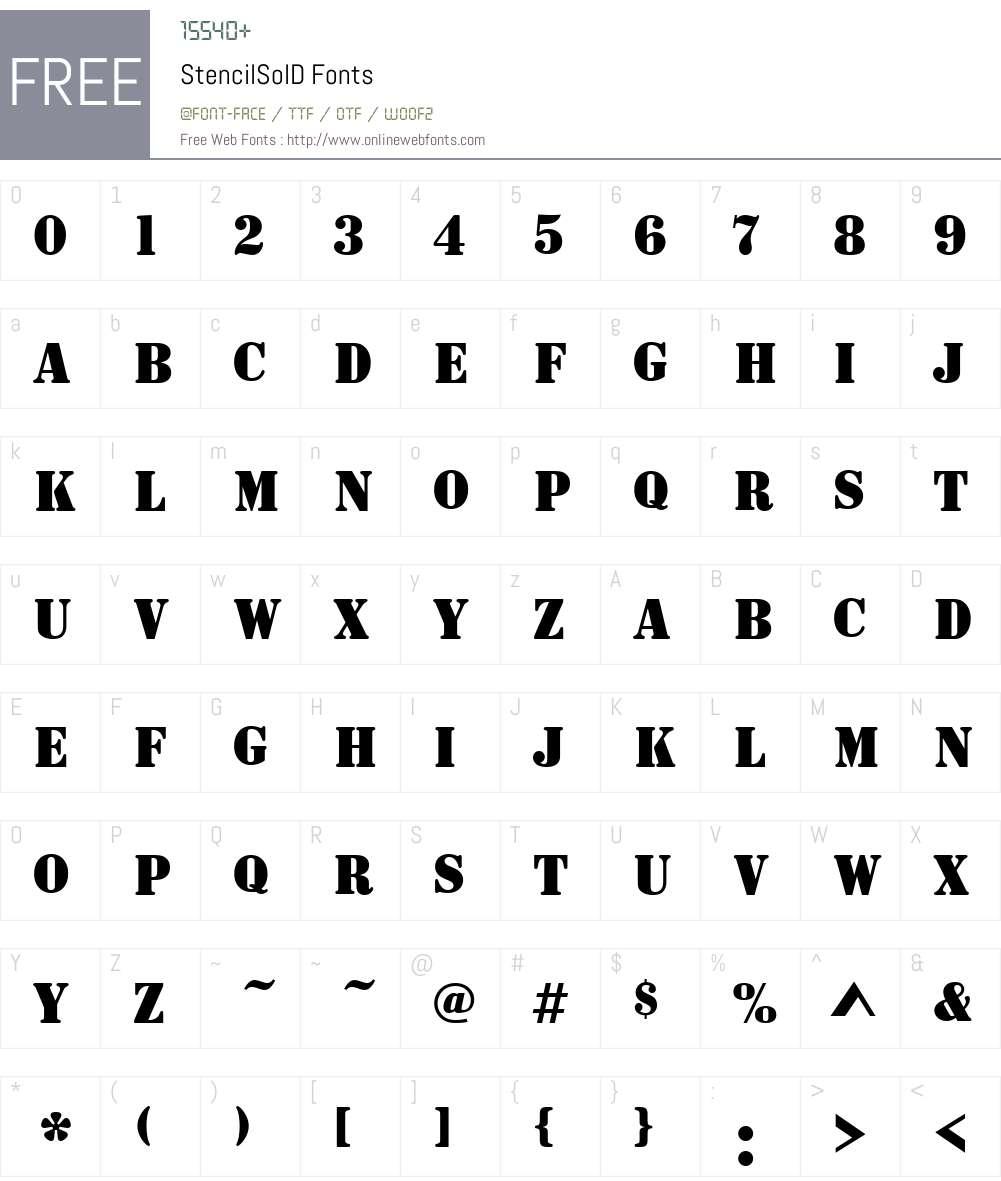 StencilSolD Font Screenshots