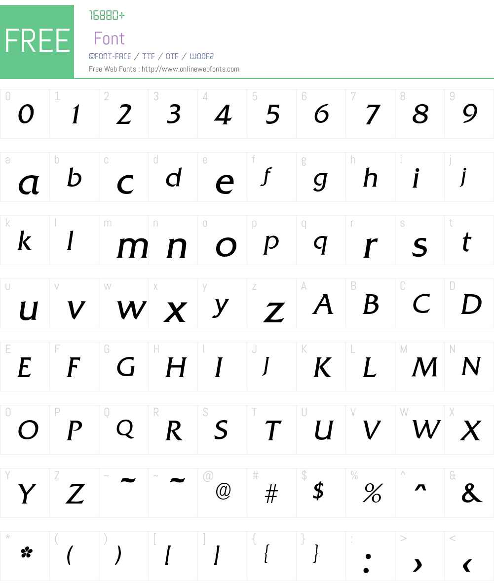 Quadrat-LightIta Font Screenshots