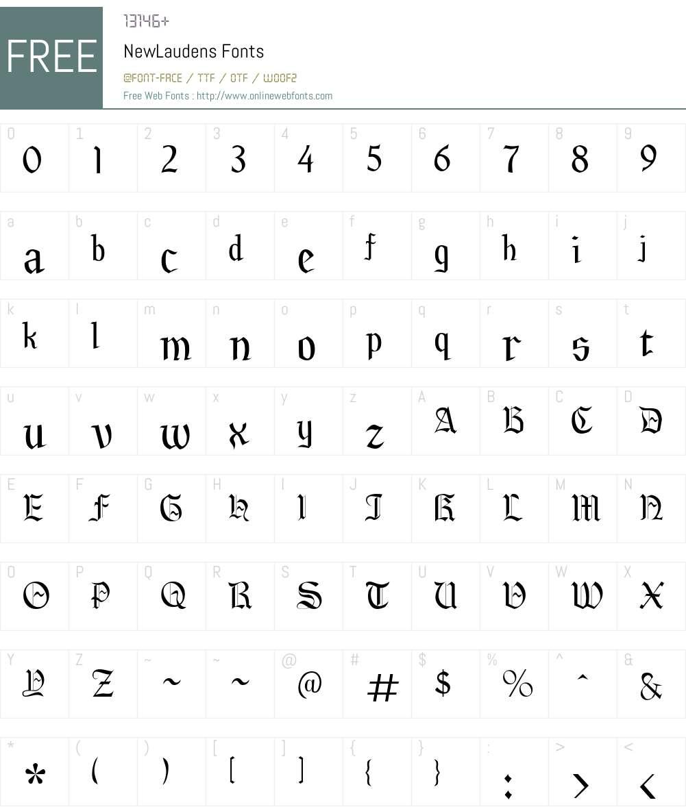 NewLaudens Font Screenshots