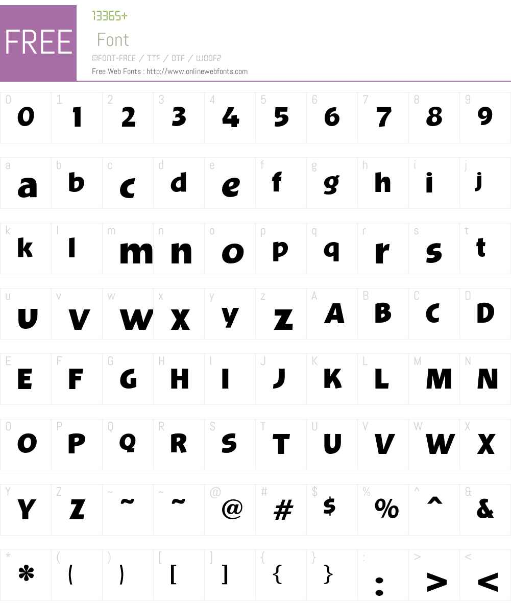 OPTIBevis Font Screenshots