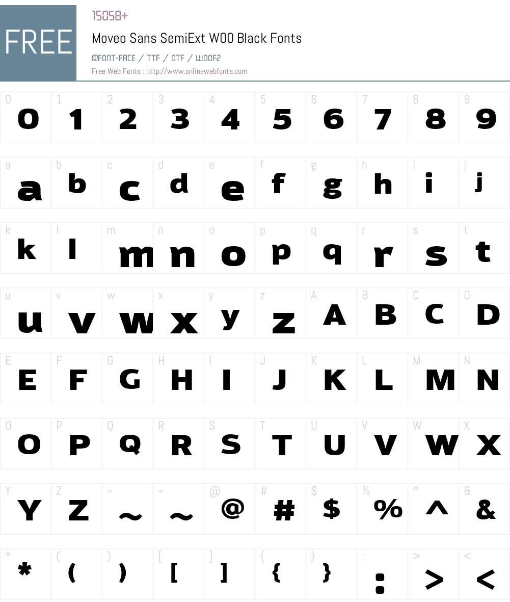 MoveoSansSemiExtW00-Black Font Screenshots