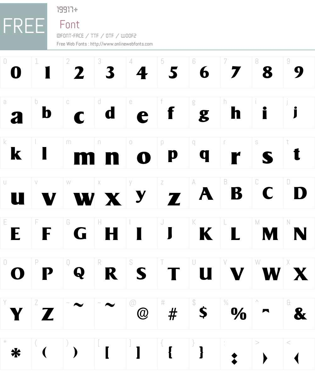 Sigvar-Heavy Font Screenshots
